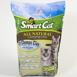 #6504 SmartCat ALL NATURAL Clumping Litter by Pioneer Pet-5lb Bag